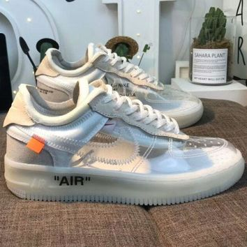NIKE AIR FORCE 1 & OFF-WHITE Joint Series Transparent Crystal Shoes F-AHXF