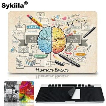 Sykiila    Brain Colorful For Sticker Macbook Air 11 12 13 Pro 13 15 Retina Decal Laptop Wall Car Vinyl Logo Skin Marble Matte
