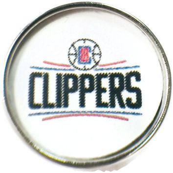 NBA Basketball Logo Los Angeles Clippers 18MM - 20MM Fashion Snap Jewelry Snap Charm New Item