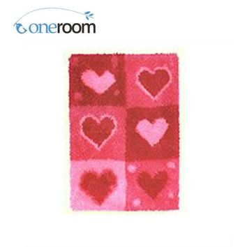 Latch Hook Rug 4THZD421  Red Love