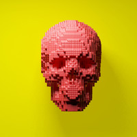 3d Pixel Skull - Cubic Skull - Voxel Skull - Lego by kipiripi on Shapeways