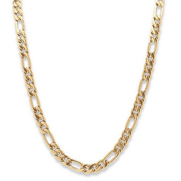 "Men's Figaro-Link Chain in Yellow Gold Tone 30"" on PalmBeach Jewelry"