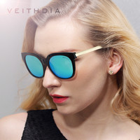 VEITHDIA TR90 Women's Driving Sun glasses Polarized Mirror Lens Luxury Ladies Designer Sunglasses Eyewear For Women 7022