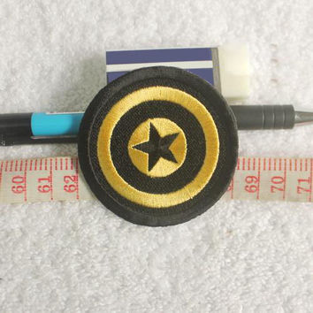 Captain Americ - Star Shield Emblem Embroidery Patches / A01,#2 Movie TV Patches