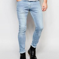 Brooklyn Supply Co. | Brooklyn Supply Co Jeans Spray On Extreme Skinny Light Stonewash at ASOS