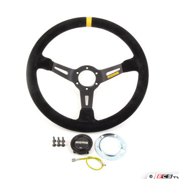 MOMO Mod.08 Steering Wheel - Black Suede - 350mm