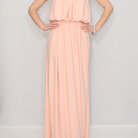 Peach Dress Maxi Dress Summer Bridesmaid dress