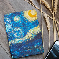 Kindle Paperwhite Case Van Gogh Design Skin,Lighted Slim Leather Cover Fit Kindle Paperwhite  6th generation