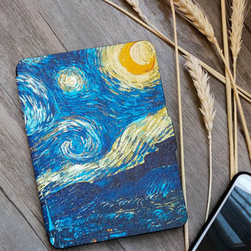 Kindle Paperwhite Case Van Gogh Design Skin,Lighted Slim Leather Cover Fit Kindle Paperwhite2013 2015 2016 6th generation