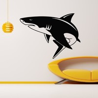 Wall Decal Vinyl Sticker Animal Predator Shark Sea Ocean Decor Sb476