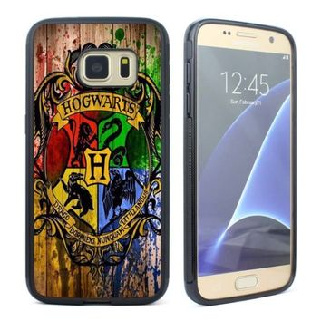 Harry Potter Hogwarts Crest Silicone Soft Case for Samsung Galaxy S5 S6 S7