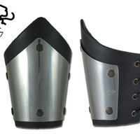 new mini bracer Medieval Warrior knight stainless steel Armor Larp Ren AR07