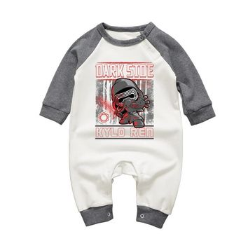 Star Wars Force Episode 1 2 3 4 5 Spring Auttmn Brand Unisex Baby Clothing Rompers  Kylo Ren Printed Long Sleeve Jumpsuits for Newborn Boys Girls Pajamas AT_72_6
