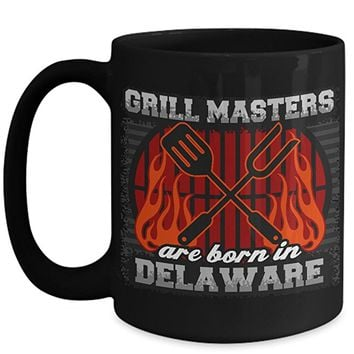 Delaware Grill Masters 15oz Black Coffee Mug
