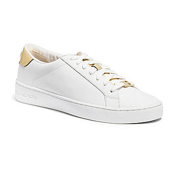 MICHAEL Michael Kors Irving Lace-Up Sneakers - Optic White/Gold