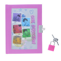 One Direction A5 Holographic Padlock Diary