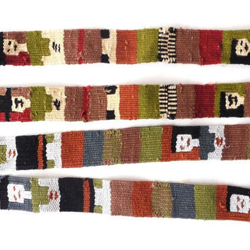 Tribal Pattern Fabric Trim Straps Woven by sweetllamasupplies