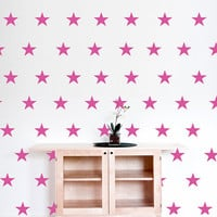 "Stars Polka Dot Wall Decal, 2"" x 2"" Stars Decal, Nursery Wall Decor, Star  Stickers, Kids Room Decor, Teen Room Polka Dot, 150pc set nm015"