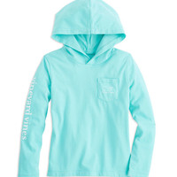 Shop Girls Whale Hoodie Tee at vineyard vines