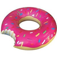BigMouth Inc Gigantic Donut Pool Float (Strawberry Frosted with Sprinkles)