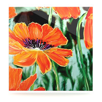 """Christen Treat """"Through the Looking Glass"""" Orange Green Luxe Square Panel"""