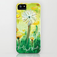 Real or Not Real-Hunger Games Dandelion iPhone & iPod Case by Stone And Feather