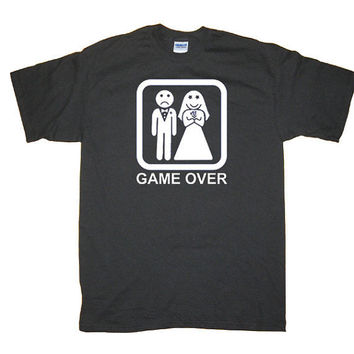 Game Over Wedding Bachelor Party Funny Cool by underdogimprints