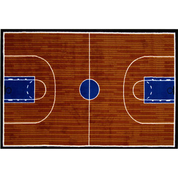 Fun Rugs Fun Time Collection Basketball Court Area Rug
