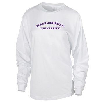 NCAA TCU Horned Frogs RYLTCU01 Women's Long Sleeve Spirit Jersey Tee