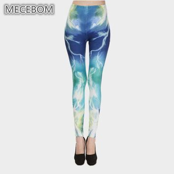 Lightning Theme Printed Leggings