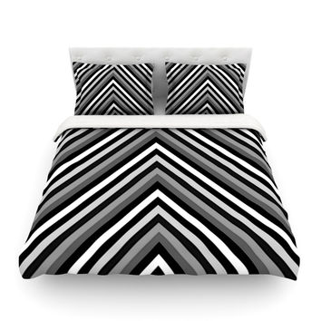 "Trebam ""Uspon"" Gray Black Featherweight Duvet Cover"