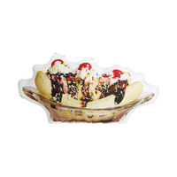 Sweet Banana Split Throw Pillow