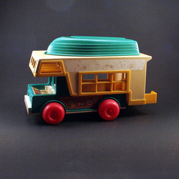 Vintage Little People Camper with Boat by Fisher Price
