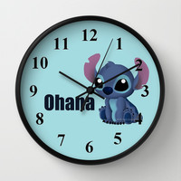 Chibi Stitch Wall Clock by Katie Simpson | Society6