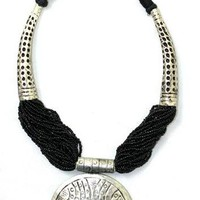 Beaded Tribal Necklace Black