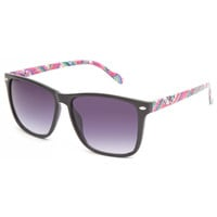 Full Tilt Nika Sunglasses Black/Multi One Size For Women 23532096901