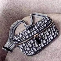 Dior 2019 new women's wild personality chest bag pocket saddle bag