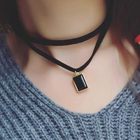 Onyx Jack | Layered Chocker Necklace