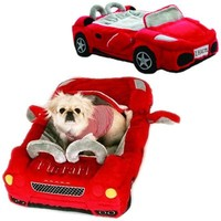 Ferrari Furarri Red Car Dog Bed