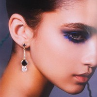 Fashion Clear Crystal Long Dangle Earrings at Online Cheap Fashion Jewelry Store Gofavor