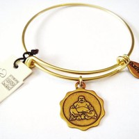 """Authentic Bella Ryann """"Buddha"""" adjustable wire bangle gold. (Shipped same day)"""