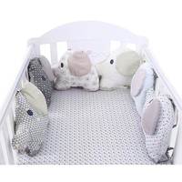 Baby Nursery Bumper Baby Bed Protector Toddler Crib Bedding Bumper Cotton Infant Bedding Bumper Newborn Kids Elephant Crib Toy