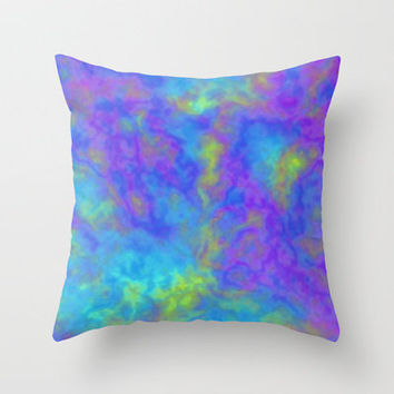 Psychedelic Mushrooms Effects Throw Pillow by ts55 | Society6