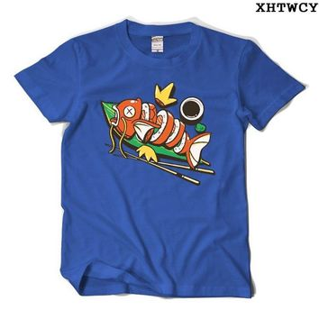 Men's T-Shirt Summer Style Man Short Sleeve O-Neck Casual  Magikarp Shirts CustomKawaii Pokemon go  AT_89_9