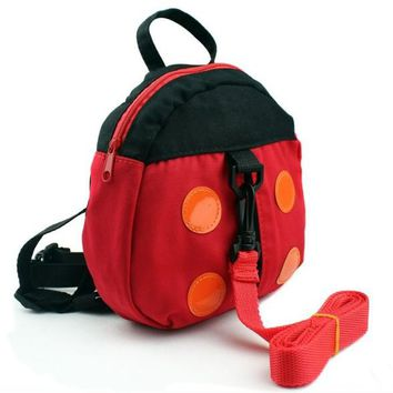 Toddler Backpack class 1 Unit of Ladybug Harness Buddy Bat Kid Keeper Baby Carrier Child Backpack Harness Toddler Leashes Walking Assistant AT_50_3