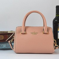 Hot Sale Kate Spade Fashion Mini Women Shopping Leather Tote Handbag Shoulder Bag Color Wine Pink