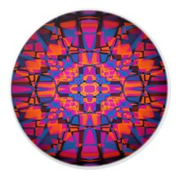 Kaleidoscope star pattern ceramic knob