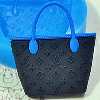 Beautiful Handbag Flexible Silicone Mold Kitsch Jewelry Charms Polymer Clay Charms