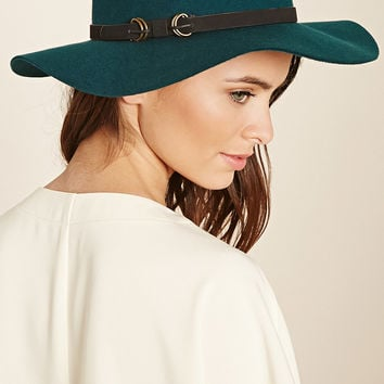 Faux Leather Band Fedora