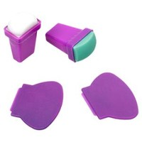 Walmart: BMC 4pc Silicone and Rubber Stamper Plastic Scraper Nail Art Stamping Tools Set